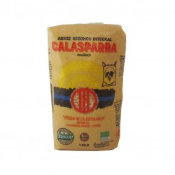 Whole rice plastic package from Calasparra 1kg