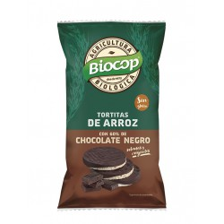 Rice cakes with dark chocolate cover Biocop 100 g