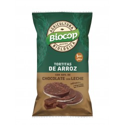 RICE CAKES WITH MILK CHOCOLATE COVER BIOCOP 100G