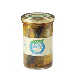 SARDINES IN GLASS POT WITH OLIVE OIL 195 G