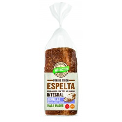 WHOLE SPELT SLICED BREAD WITH SUNFLOWER SEEDS BIOCOP 400 G